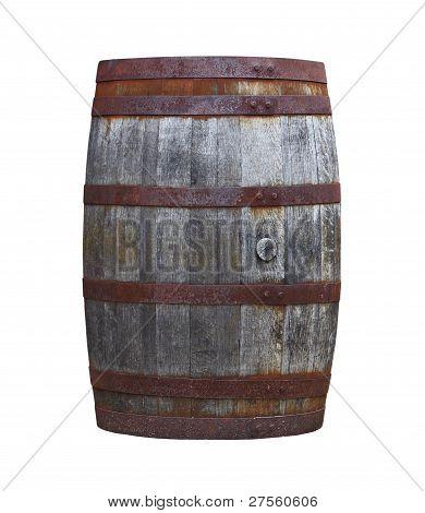 Old Wooden Barrel