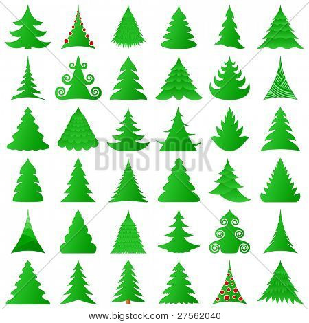 Christmas trees collection