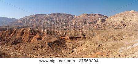 Scenic desert landscape in desert canyon
