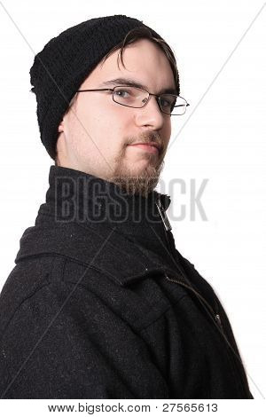 Handsome Young Man In Winter Wear