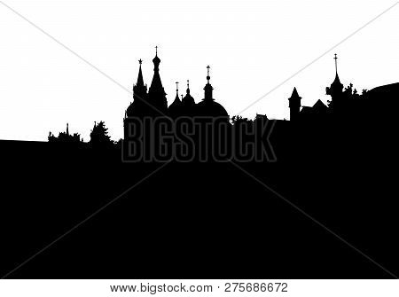 Silhouette Of Moscow City In