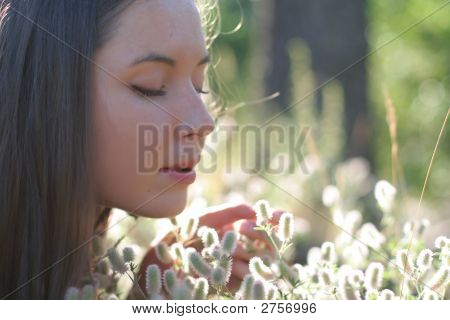 Girl With Flowers