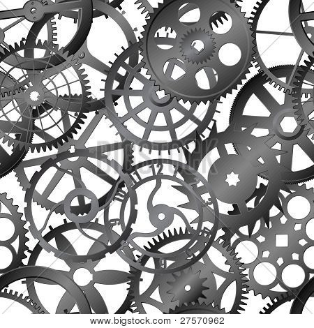 Seamless Vector Texture - Watch Gears