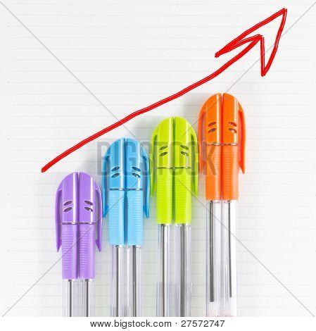 Color Pen Business Graph