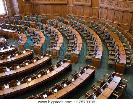 Interior Of A Parliament Senate Hall