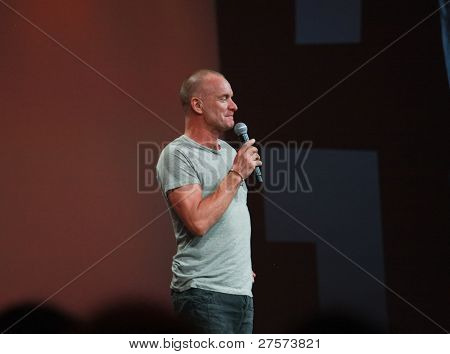 World-renowned Grammy-winning Musician And Singer Sting Welcomes At