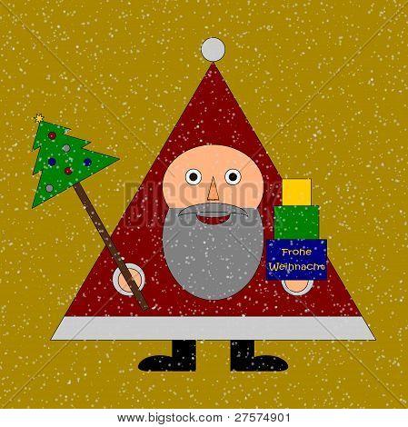 Santa Claus wishs Frohe Weihnachten