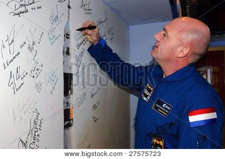 Signing A Poster