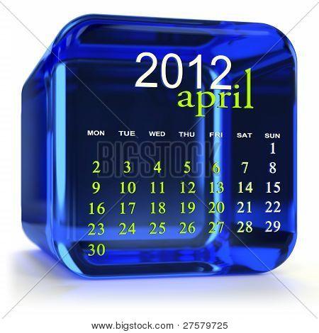 Blue April Calendar