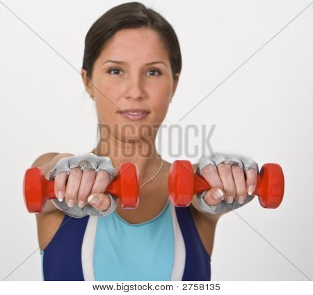 Woman With Barbells