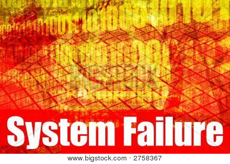 System Failure Alert Warning Message
