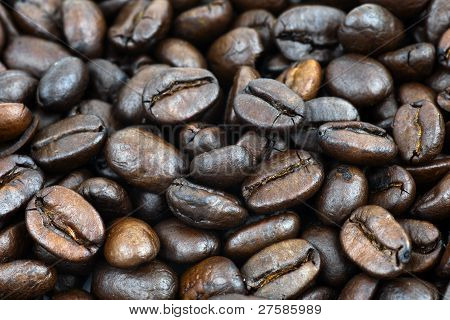 Macro Of Coffee Beans