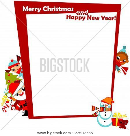 christmas greeting frame.