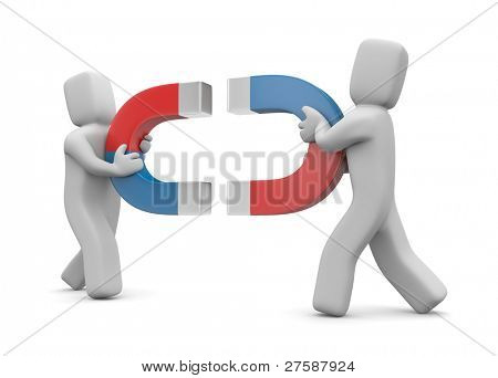 Magnetism. Image contain clipping path