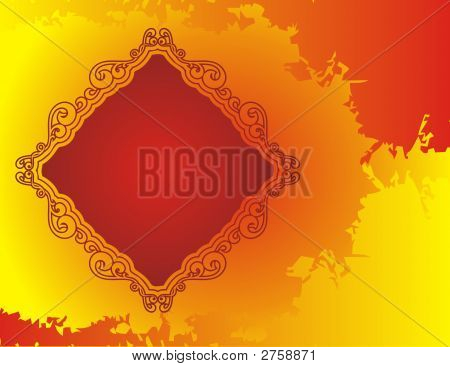 Abstract Red Frame