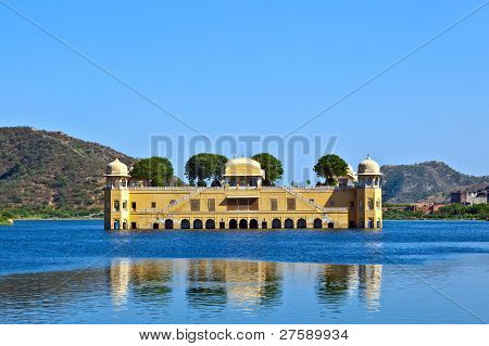 Water palace Jal Mahal in Jaipur, India.