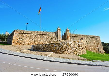 A view of Forti de Sant Jordi in Tarragona, Spain, fort built in 1709 by the English army under the War of Succession
