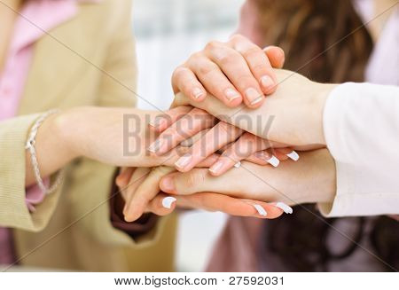 Image of business partners hands