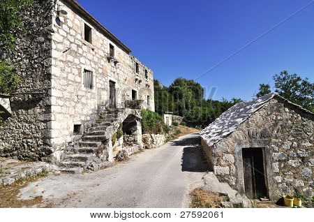Ruin of Old Stone House in Croatia