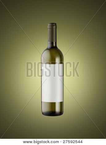 Wine Bottle , Label Copy Space