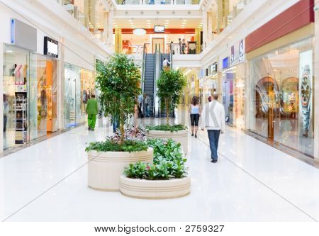 Shopping Hall. Motion Blur