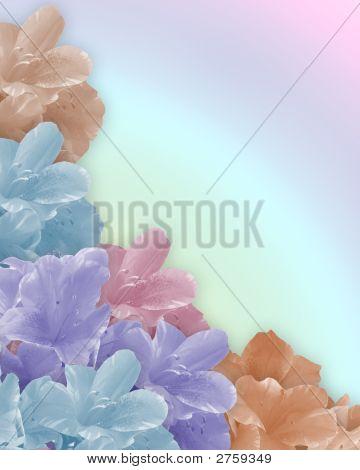 Pastel Flowers Wedding Invitation Background Stock photo