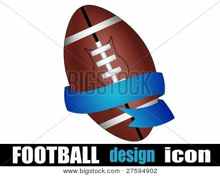 Football Ball With A Ribbon