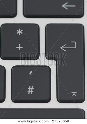 enter and plus key