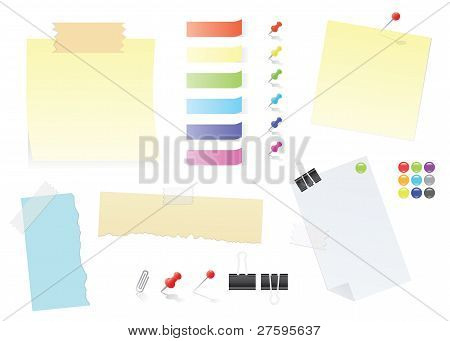Paper Notes And Stickers Office Supply Set