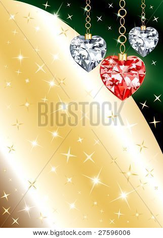 Diamond Ornament Heart Background