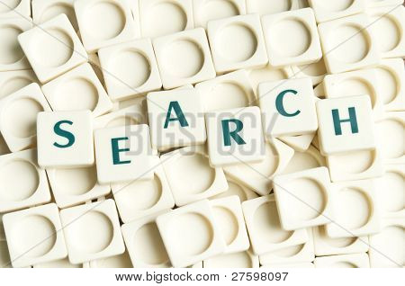 Search word made by leter pieces
