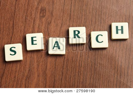 Search word made by letter pieces