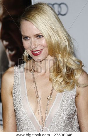 LOS ANGELES - 3 november: Naomi Watts op de AFI Fest 2011 Opening Night Gala wereldpremière van ' J. Edgar