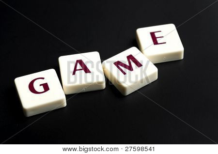 Game word made by letter pieces
