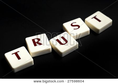 Trust word made by letter pieces