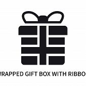 Wrapped Gift Box With Ribbon Icon Isolated On White Background. Wrapped Gift Box With Ribbon Icon Si poster