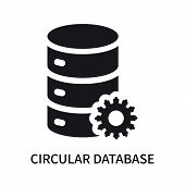 Circular Database Icon Isolated On White Background. Circular Database Icon Simple Sign. Circular Da poster