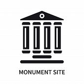 Monument Site Icon Isolated On White Background. Monument Site Icon Simple Sign. Monument Site Icon  poster