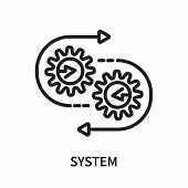 System Icon Isolated On White Background. System Icon Simple Sign. System Icon Trendy And Modern Sym poster