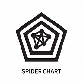 Spider Chart Icon Isolated On White Background. Spider Chart Icon Simple Sign. Spider Chart Icon Tre poster