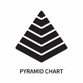 Pyramid Chart Icon Isolated On White Background. Pyramid Chart Icon Simple Sign. Pyramid Chart Icon  poster