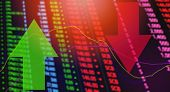 Red And Green Arrows Stock Exchange Market Analysis / Stock Crisis Red Price poster