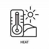 Heat Icon Isolated On White Background. Heat Icon Simple Sign. Heat Icon Trendy And Modern Symbol Fo poster