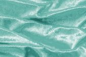 Teal Blue Velvet Background Or Velour Flannel Texture Made Of Cotton Or Wool With Soft Fluffy Velvet poster
