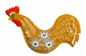 Graven Handmade Wooden Easter Rooster Decoration.