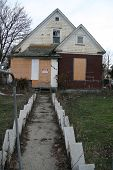 stock photo of meth  - This home was boarded up and condemned - JPG
