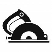 Circular Saw Icon. Simple Illustration Of Circular Saw Vector Icon For Web Design Isolated On White  poster