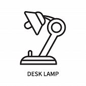 Desk Lamp Icon Isolated On White Background. Desk Lamp Icon Simple Sign. Desk Lamp Icon Trendy And M poster