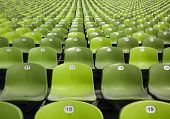 foto of bleachers  - bleachers at stadium - JPG