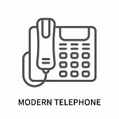 Modern Telephone Icon Isolated On White Background. Modern Telephone Icon Simple Sign. Modern Teleph poster